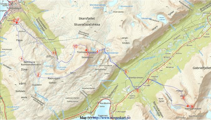 Mapka závodu