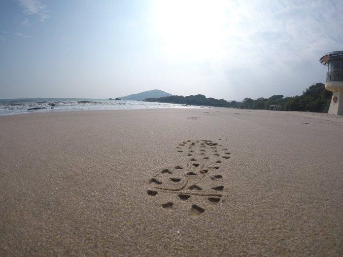 Rozsklus na pláži