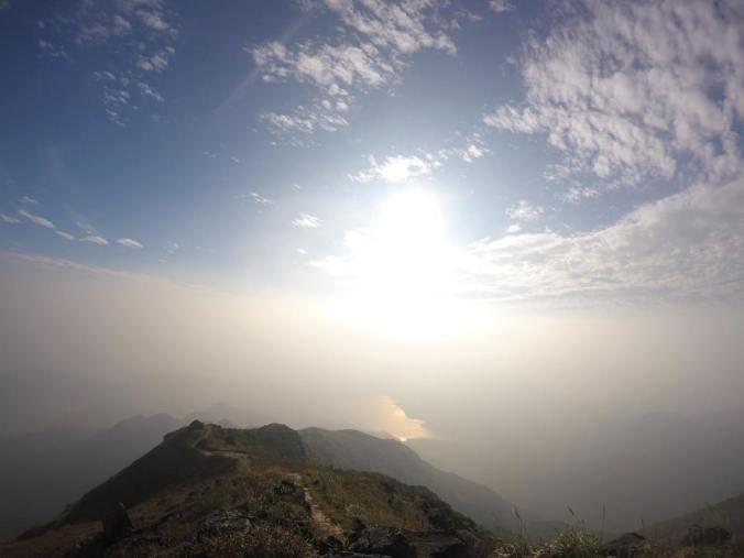 Západní úbočí Lantau Peak